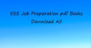 EEE Job Preparation Book PDF
