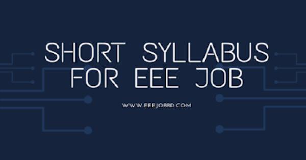 eee job preparation syllabus
