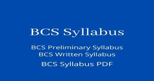 BCS Syllabus